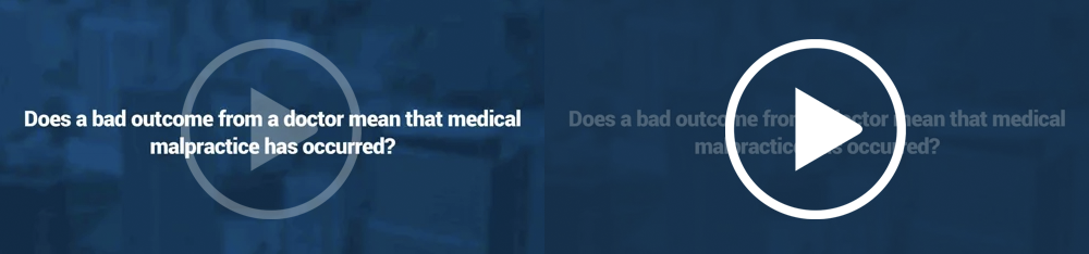 Does a bad outcome from a doctor mean that medical malpractice has occurred?