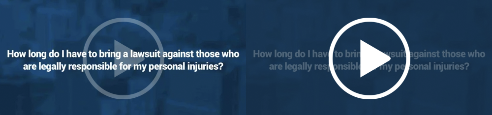 How long do I have to bring a lawsuit against those who are legally responsible for my personal injuries?